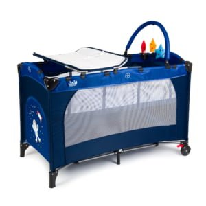 Travel Baby Cot with 2 Levels Juju Sleepy Baby, Space Adventure